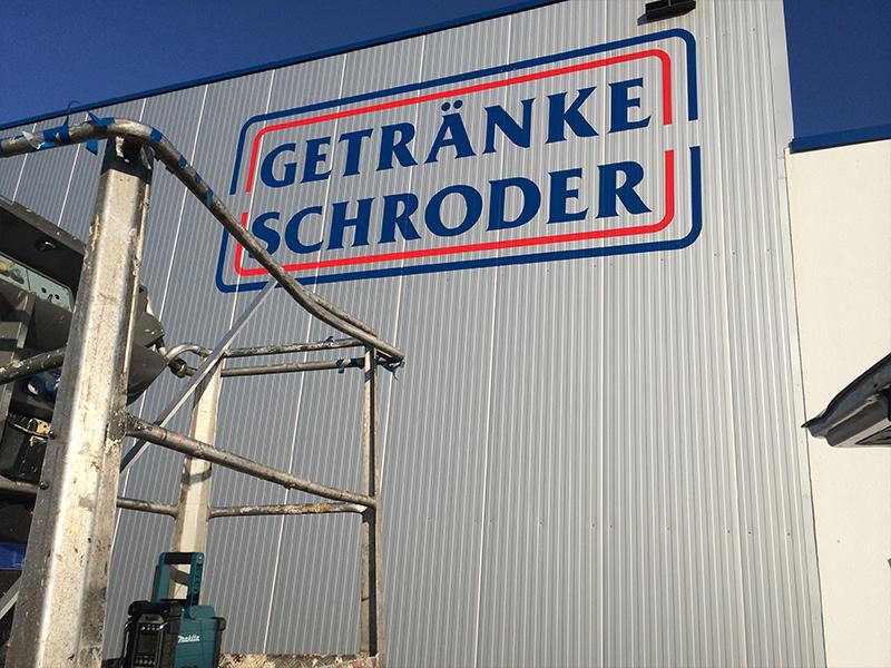 Getränke Schröder - MB Klebewerk - Ihre Werbetechnik aus Osnabrück